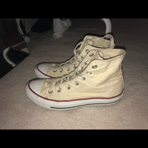 bbd30d6a387 Converse Shoes - Pastel Yellow High Top Converse